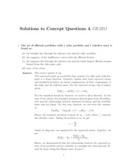 Solutions to Concept Questions 4