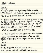 Homework H Solutions on Abstract Algebra