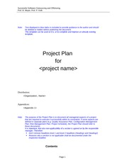 Project Plan wo. QA, Transition