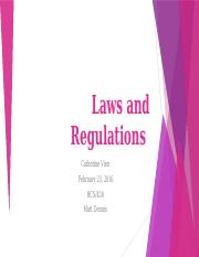 Catherine_Laws and Regulations