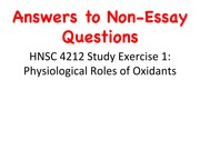 Answers to Non-Essay Questions in Study Exercises 1 and 2