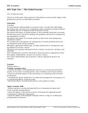 Global Economy Study Guide - Suggested Answers1