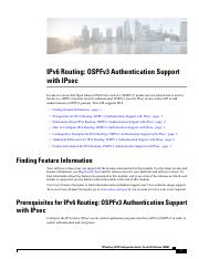 OSPFv3 Authentication Support