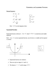 02Exponential and Logarithmic Functions