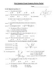 Geometry Sem 1 Review.doc