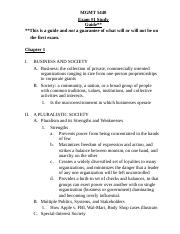 MGMT 5440 - Exam #1 Study Outline.docx