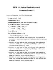 PETE 544 - Homework Number 2