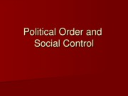 Political Order and Social Ctrl