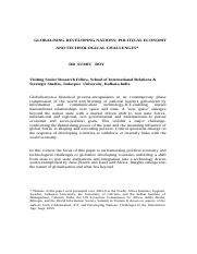 Roy_GLOBALIZING_ DEVELOPING_NATIONS_Revised