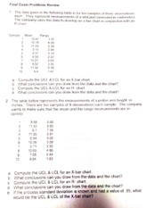 Product. op. Final review and answer key