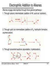L20-Electrophilic Addition to Alkenes Part 2