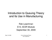 093009Introduction to Queuing Theory