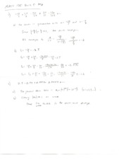 Calculus II Quiz 5 Solutions
