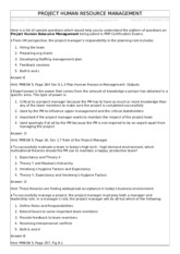 Ch. 9 Human Resource Management Questions