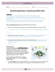 Module Thriteen Lesson two Greenhouse Effect 2017