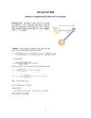 Solutions to Supplemental Problem Set 9
