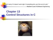 Chapter 13 - Control Flow