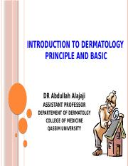 Introduction to Dermatology by Dr Alajaji.pptx