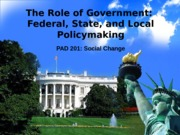 Federal, State, and Local Policymaking(1)