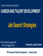 BME 4908_career Development_Job Search Strategies_ Spring 2017