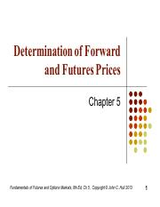 Chapter 5 - Determination of Forward and Futures.pdf