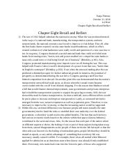 Chapter Eight Recall and Reflect.docx