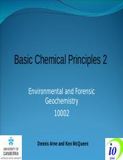 Basic Chemical Principles 2