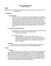 Problem Solution Essay Outline Example