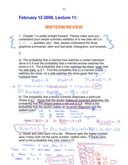 midterm review - old Post Lecture