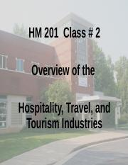 Overview of the Hospitality, Travel, and Tourism Industries