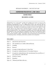 Admin Law reading guide sem1of2014.doc