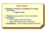 Lect 07 Energy Flow food Chains 2014