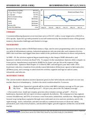 Buyside Focus - Sample Stock Pitch - Spansion (Short Form).pdf