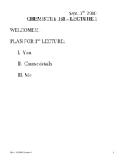 Chem 161-2010 Lecture 1st week truncated