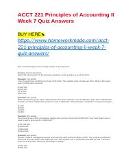 ACCT 221 Principles of Accounting II Week 7 Quiz Answers.docx