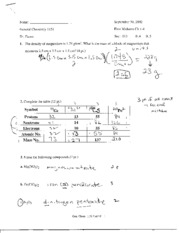 Old Exam #1 With Solutions