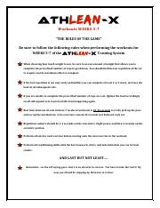 athlean x workout pdf AthLEAN-X_Workouts_Weeks_1-4 - Ath LEAN-X Workout s WEEK S1 3 ...