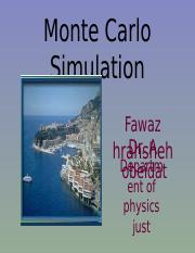 Monte carlo simulation-project