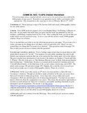 apa citation worksheet comm 20 sec 13 apa citation worksheet for each prompt please respond. Black Bedroom Furniture Sets. Home Design Ideas