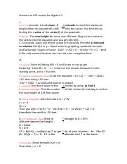 Answers to CFA review for Algebra 2 (1).doc
