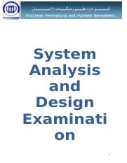 System Analysis and Design.doc