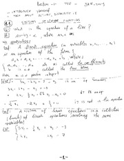 MECH 411 Systems of Linear Equations Notes