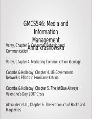 Media and Information Management