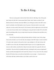 To Be A King.docx