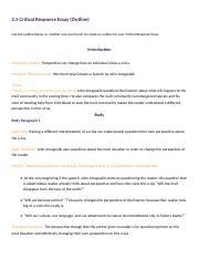 critical response essay planning critical 4 pages 2 5 critical response essay planning 2 david