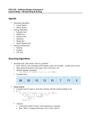 lecture notes - 09 - Searching & Sorting