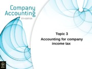 Topic 3 - Accounting for income tax.a