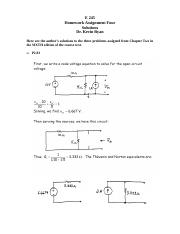 E 245 Homework Assignment 4; Chapter 2; 6th Edition; Solutions