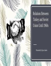 TR-USSR relations until 1960