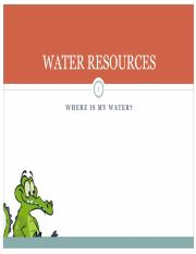 22a Water resources - Canvas